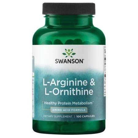 Swanson L-Arginina i L-Ornityna 100 kapsułek