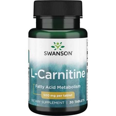 Swanson L-Karnityna 500 mg 30 tabletek