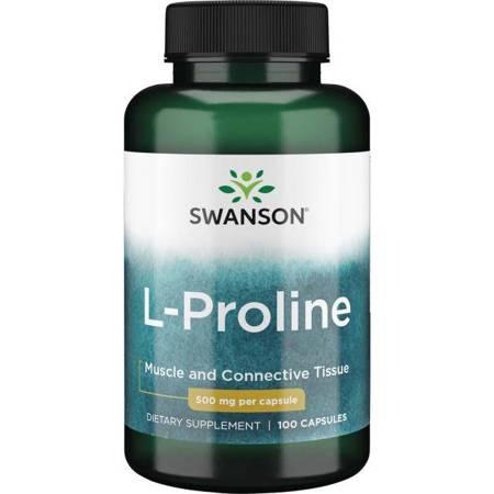 Swanson L-Prolina 500 mg 100 kapsułek