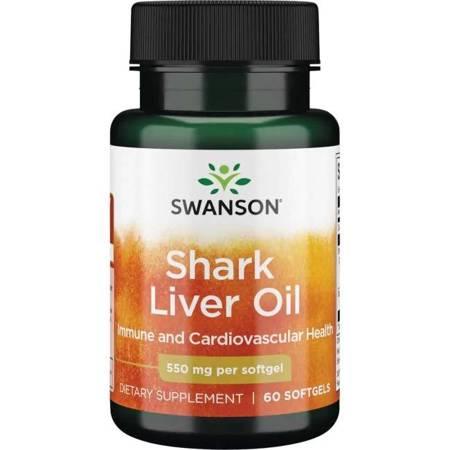 Swanson Olej z wątroby Rekina 550 mg 60 kapsułek