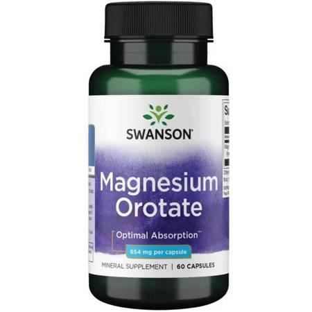 Swanson Orotan Magnezu 40 mg 60 kapsułek