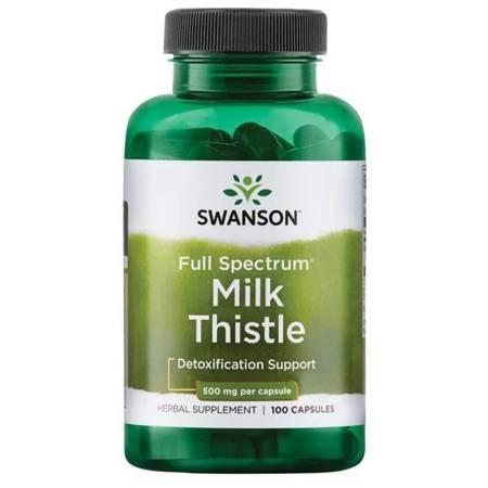 Swanson Ostropest Plamisty (Milk Thistle) 500 mg 100 kapsułek