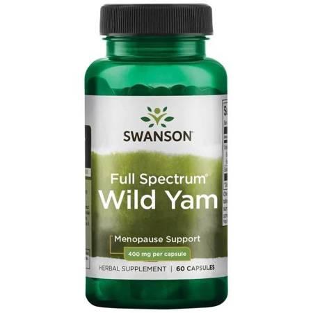 Swanson Pochrzyn Włochaty (Wild Yam) 400 mg 60 kapsułek