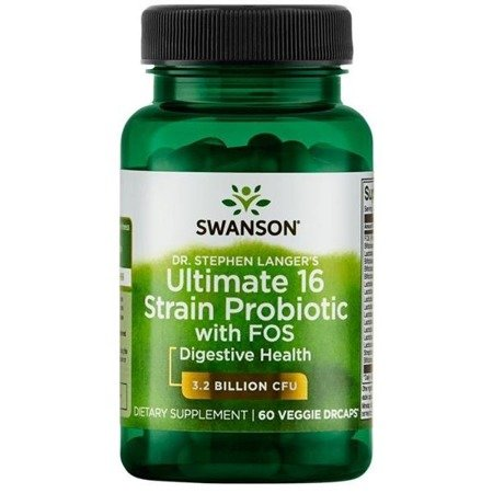 Swanson Probiotyk Dr. Stephen Langer's Ultimate 16 szczepów z FOS 60 kapsułek