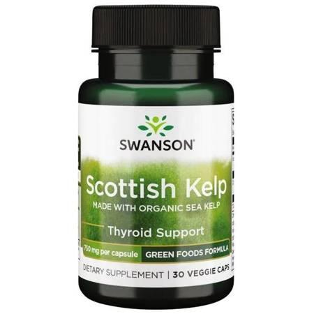 Swanson Scottish Kelp (Jod) 750 mg 30 kapsułek