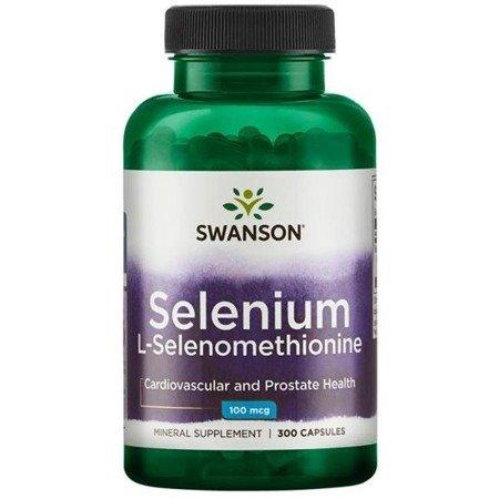 Swanson Selenium L-selenometionina 100 mcg 300 kapsułek