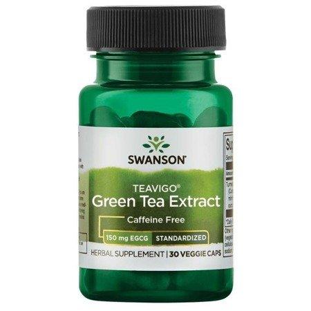 Swanson TEAVIGO Extract z Zielonej Herbaty 30 kapsułek
