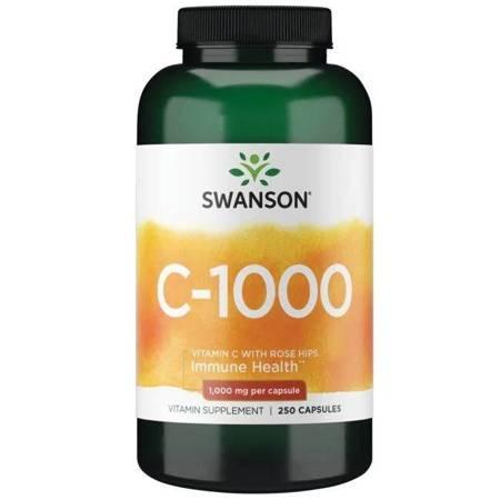 Swanson Witamina C 1000 mg z Dziką Różą 250 kapsułek