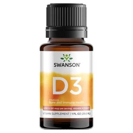 Swanson Witamina D3 Drops 400 iu 29,6 ml krople