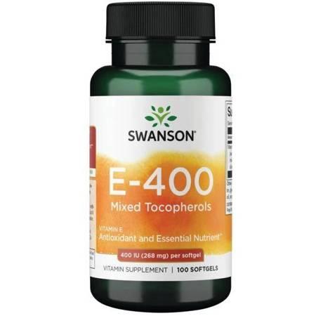 Swanson Witamina E (mieszanka tokoferoli) 268 mg 100 kapsułek